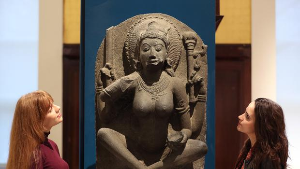 A Yogini sculpture from about AD 900 will be on show as part of the Tantra: Enlightenment To Revolution exhibition (Yui Mok/PA)