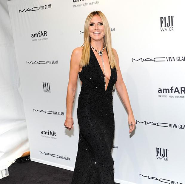 Heidi Klum attends amfAR's New York gala
