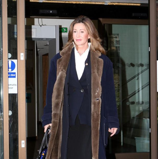 Paula Hamilton leaves court after being found guilty of assaulting a policeman
