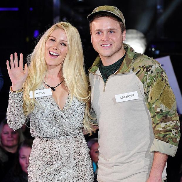 Heidi Montag and Spencer Pratt arriving at the launch of Celebrity Big Brother 2013, Elstree Studios, Borehamwood. PRESS ASSOCIATION Photo. Picture date: Thursday January 3, 2013. See PA story SHOWBIZ Brother. Photo credit should read: Ian West/PA Wire