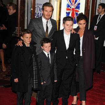 The Beckham family celebrated Cruz's birthday with a trip to the movies