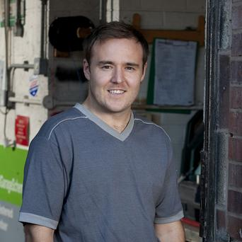 Alan Halsall is excited about becoming a father
