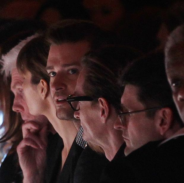Justin Timberlake and Jessica Biel had front row seats at the Tom Ford show