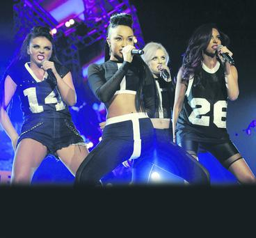 Girl gang: Little Mix's Jesy, Leigh-Anne, Perrie and Jade on stage
