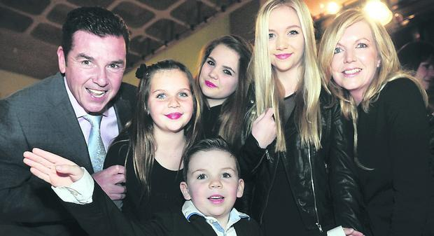 Frank Carsons son Tony with his family Tara, Hanna, Frankee, Padraig and Tony's wife Edna