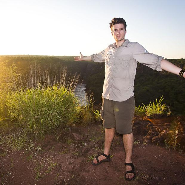 Greg James jumped into the Zambezi river for charity
