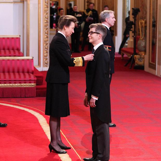 Gareth Malone was made an OBE by the Princess Royal at Buckingham Palace