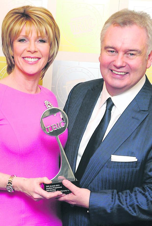 Eamonn Holmes and wife Ruth Langsford with award