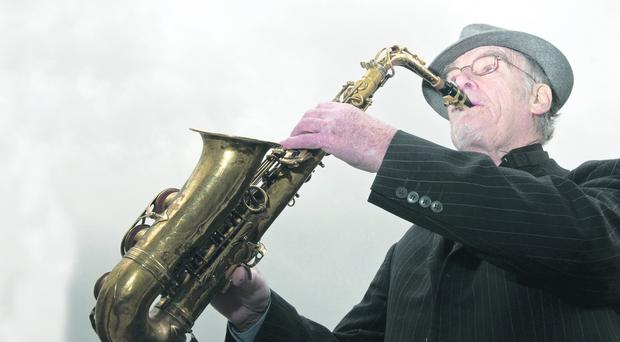 Derry Jazz legend Gay McIntyre pictured at the launch of the 12th City of Derry Jazz and Big Band Festival which will take place this year from the 2nd to the 6th of May. There will be over 300 events in the calender this year and for the first time includes a Grand Vintage Ball in The Venue 2013 at Ebrington on Saturday the 4th of May with headline act the Puppini Sisters. PIcture Martin McKeown. Inpresspics.com. 27.3.13