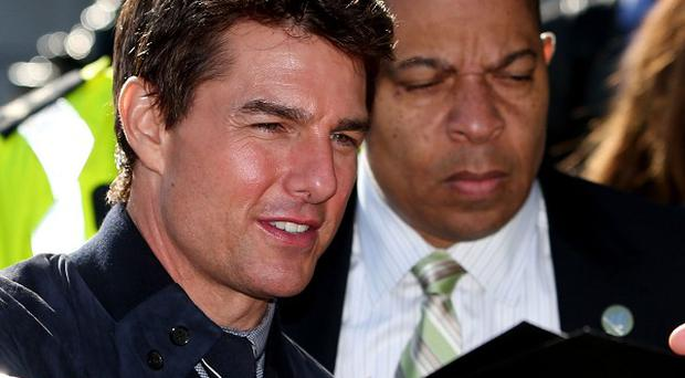 Tom Cruise in Dublin where he received a certificate of Irishness