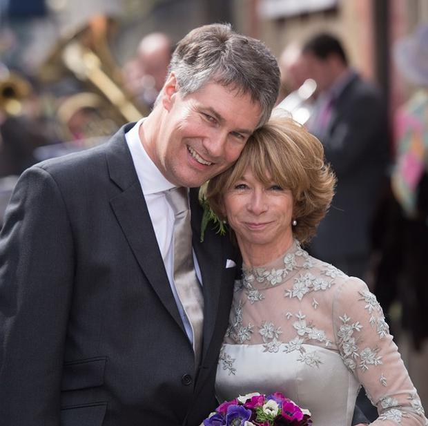Helen Worth with her new husband Trevor Dawson