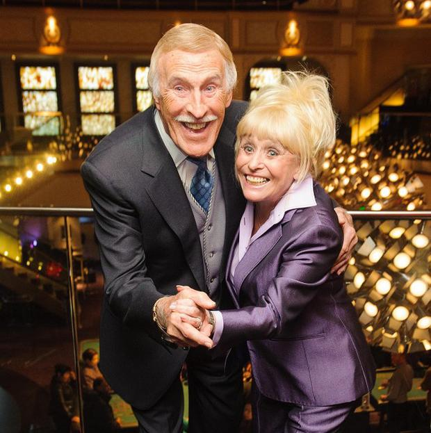 Sir Bruce Forsyth and Barbara Windosr at the 30-year reunion of the cast and crew of The Talk of the Town