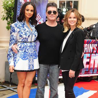 Alesha Dixon, Simon Cowell and Amanda Holden at the Britain's Got Talent launch in London