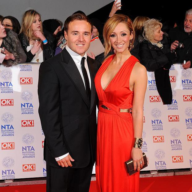 Alan Halsall and wife Lucy-Jo Hudson are expecting a baby