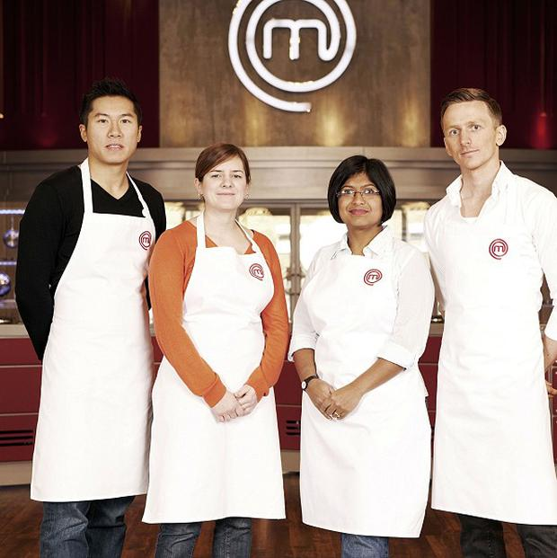 Larkin Cen, far left, is one of the four semi-finalists in this year's Masterchef competition