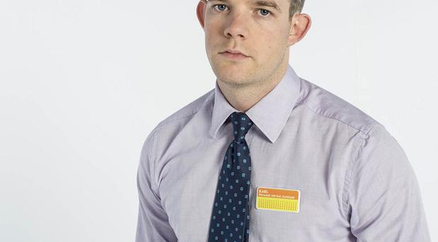 Russell Tovey plays a Jobcentre worker in The Job Lot