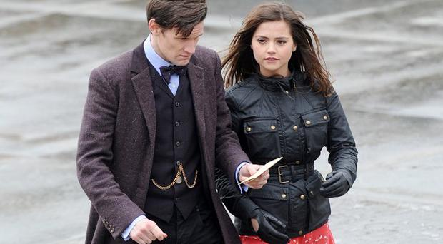 Jenna-Louise Coleman and Matt Smith star in Doctor Who