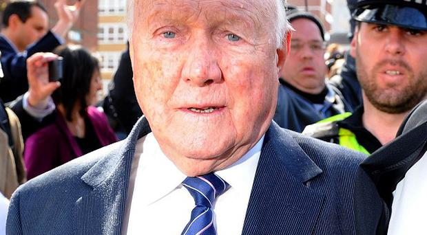 Veteran BBC broadcaster Stuart Hall leaves Preston Crown Court