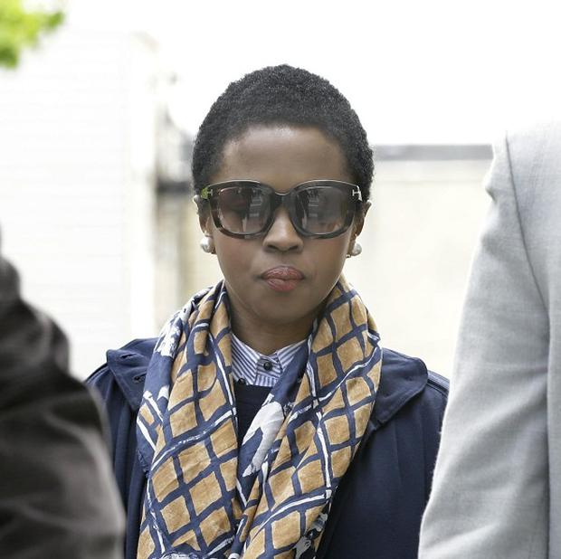 Lauryn Hill walks to federal court in Newark, New Jersey (AP/Mel Evans)
