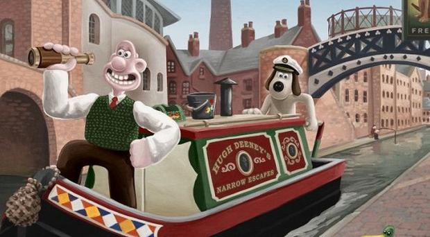 Wallace and Gromit enjoy a traditional British holiday