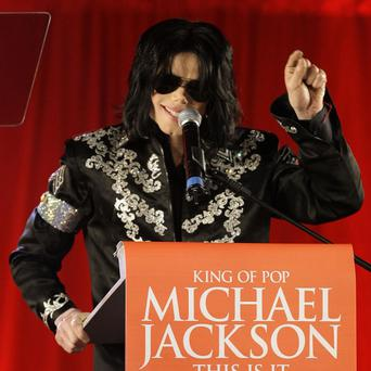 Michael Jackson announces the concerts at the London O2 Arena (AP/Joel Ryan)