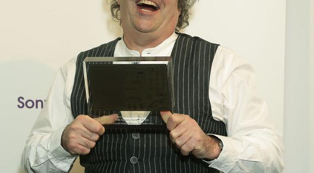 Danny Baker with the best entertainment programme award, at the Sony Radio Academy Awards
