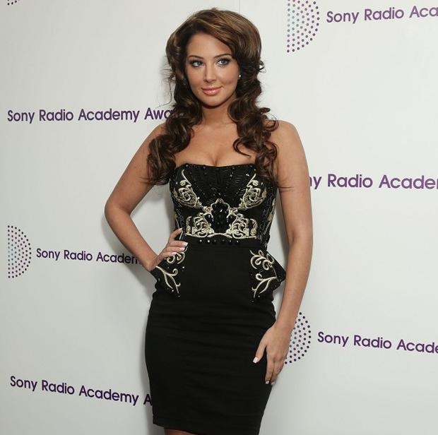Tulisa Contostavlos showed off her new hair do at the Sony Radio Academy Awards