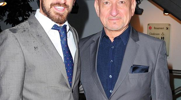 Sir Ben Kingsley and his son Ferdinand arrive at the Northern Ballet's The Great Gatsby at the Sadler's Wells theatre in London