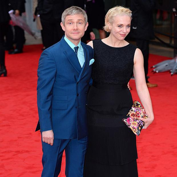 Amanda Abbington's partner Martin Freeman is said to be worth £10 million