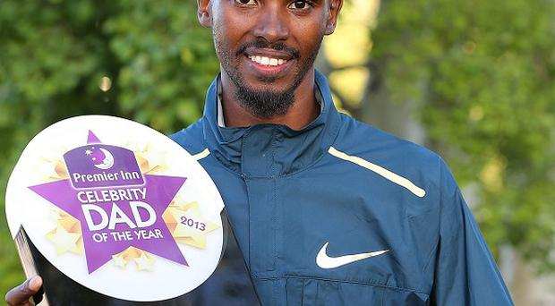 Mo Farah has been voted Premier Inn Celebrity Dad of the Year 2013