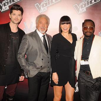 The Voice coaches Danny O'Donoghue, Sir Tom Jones, Jessie J and will i am
