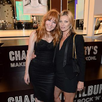Charlotte Tilbury and Kate Moss attend as make-up artist Tilbury hosts an event in The Concept Store at Selfridges in London