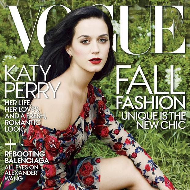 Katy Perry on the July 2013 cover of Vogue magazine (AP/Vogue, Annie Leibovitz)