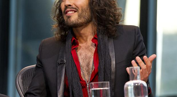Russell Brand during the filming of Question Time, at City Hall in London