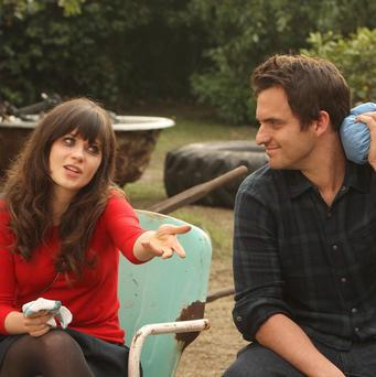 Jess (Zooey Deschanel) and Nick (Jake Johnson) grow closer in New Girl