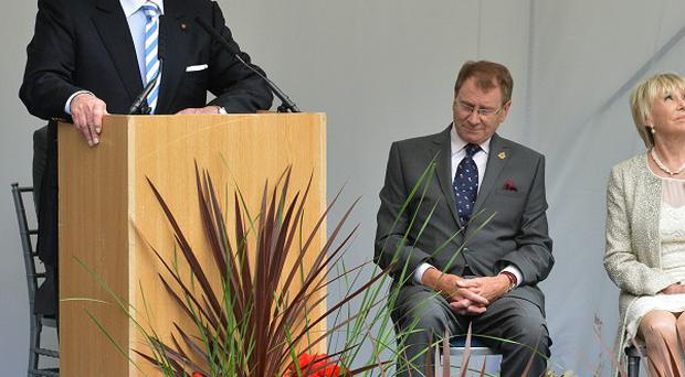 Sir Roger Moore (left) described the late Michael Winner's work to establish the Police Memorial Trust as 'very fine and noble'