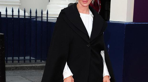 Uma Thurman arriving at the opening night of Charlie And The Chocolate Factory