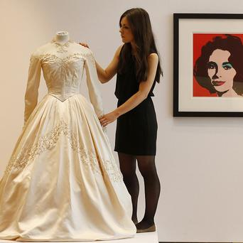 Elizabeth Taylor's first wedding dress was sold at auction