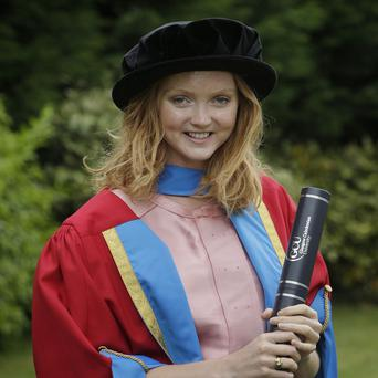 Lily Cole received an honorary degree from Caledonian University