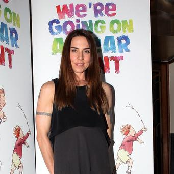 Melanie Chisholm attending a special performance show of We're Going On A Bear Hunt at the Lyric Theatre in London