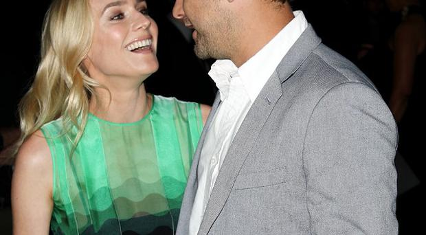 Diane Kruger and Joshua Jackson at the premiere screening of The Bridge