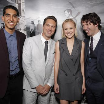 Dev Patel, Thomas Sadoski, Alison Pill and John Gallagher Jr at the season 2 premiere of The Newsroom