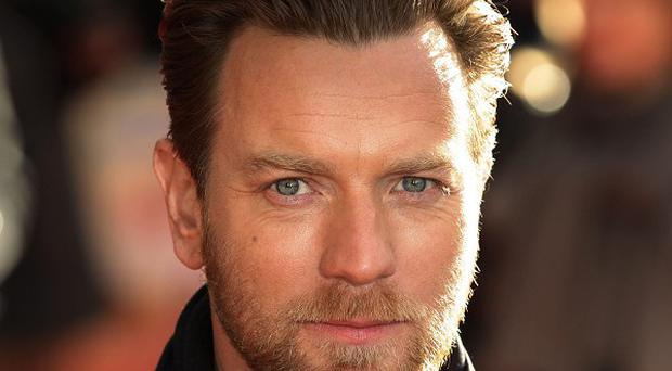 Ewan McGregor visited youngsters at Rachel House Children's Hospice in Kinross