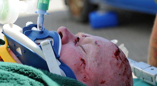 Phil Mitchell, played by Steve McFadden, is left fighting for his life after a car crash in EastEnders (BBC/PA)