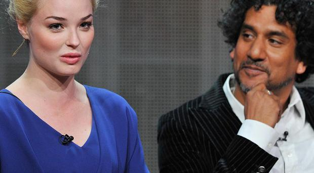 Actors Emma Rigby and Naveen Andrews attend the Disney/ABC Television Group's 2013 Summer TCA panel at the Beverly Hilton Hotel (AP)