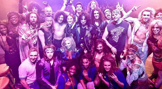 Alice Cooper joined the cast of Rock Of Ages, which is leaving London's West End to tour the country