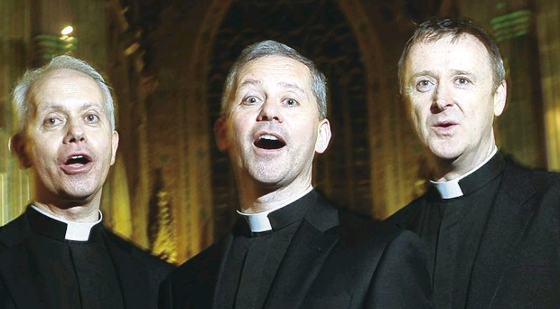 The Priests made their debut at Feile an Phobail last night