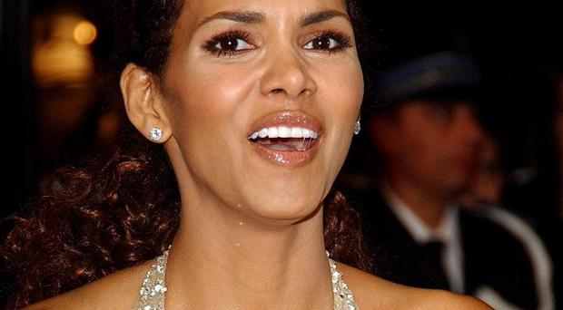 It was Halle Berry's second state capitol appearance on the measure