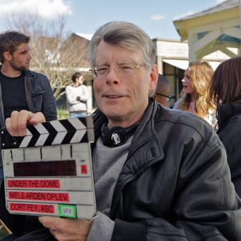 Stephen King on the set of Under The Dome