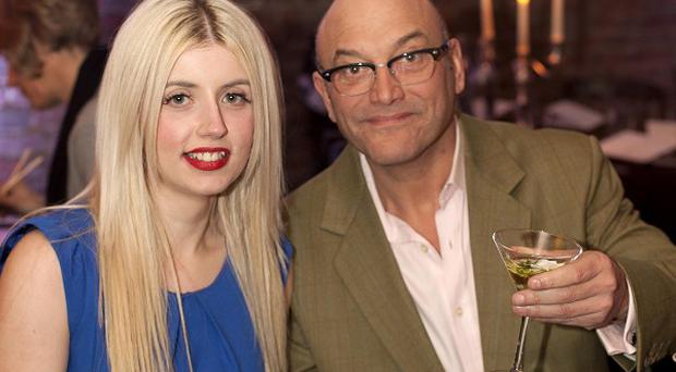 Gregg Wallace with Anne-Marie Sterpini